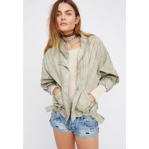 Free People Parachute Army Green Utility Jacket